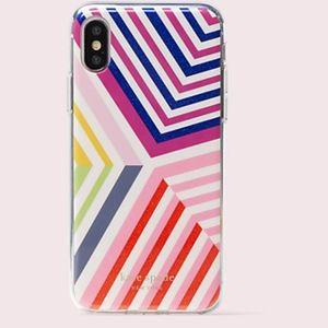 NWT~KATE SPADE~Glitter Geobrella iPhone X/XS Case